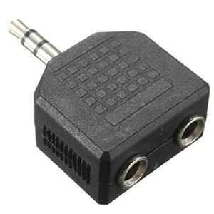 Goliton 2pcs 3.5mm Jack 1 Male To 2 Dual Female Earphone Audio Stereo Plug Splitter Adapter Converter For Mobile Phone