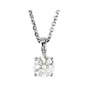 14kt White 3/4 CTW Diamond 18