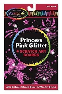 Scratch Art Magic Princess Pink Glitter Board by Scratch Art