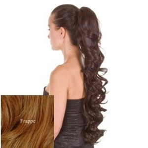 Hair By MissTresses Curly Wavy Ponytail Hairpiece By Excelength in Ash Blonde/ Brown Mix 23-inch by Hair By MissTresses