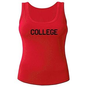 College for Women Printed Tanks Tops Sleeveless T-shirt