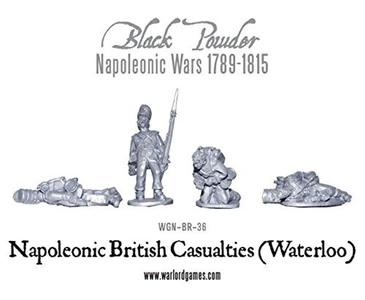 Black Powder, Napoleonic Wars, British Casualties (Waterloo), 28mm Warlord games miniatures by BlackPowder