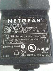 Genuine Netgear Power Supply AC Adapter MT18-9120150-A1 332-10221-01 12V 1.5A