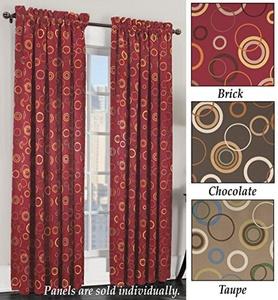 Insulated Room Darkening Curtain Panel Taupe 54