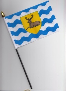 Hertfordshire County Hand Flag 25cm by 1000 Flags