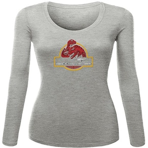 PALEONTOLOGICAL ADVENTURE for Women Printed Long Sleeve Cotton T-shirt
