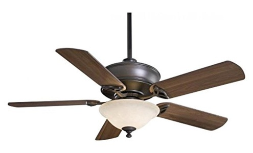 Oil Rubbed Bronze 5 Blade 52In. Ceiling Fan - Light, Remote Control And Blades Included