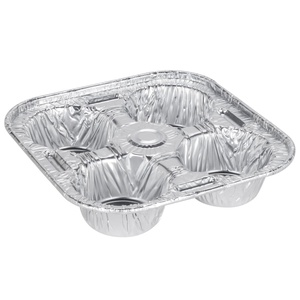 D&W Fine Pack D93 4 Cavity Foil Texas / Jumbo Muffin Pan - 250/Case