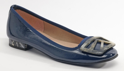 French Sole Women's Talisman Navy Patent Flat 7 M