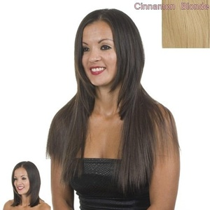 Strawberry Blonde Silky Straight Clip In Hair Extensions | 18 Long Straight Single Weft | Cinnamon Strawberry Blonde by Hair Extensions By MissTresses