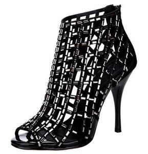 Jiandick Womens Rhinestone Ankle Bootie Prom Heeled Sandals Evening Dress Stiletto High Heel