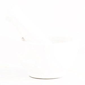 White Matte Ceramic Mortar and Pestle