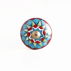 Multicolor Geometric Ceramic Knobs