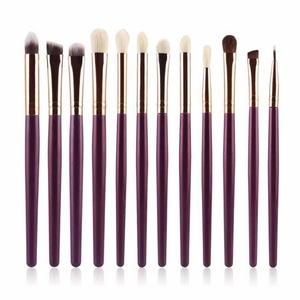 Bolayu 12Pcs Makeup Brush Sets Kits Tools (Purple)