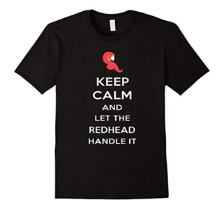 Men's Keep Calm And Let The Redhead Handle It Shirt 3XL Black