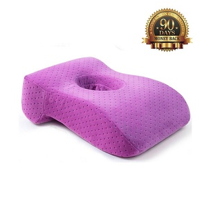 Catching a Quick 15-Minute Power Nap - Memory Foam Slow Rebound Pillow Travel Office Napping Pillow - Neck Support - Nap Pillow - Head Pillow - Perfect for Your Office Desk and Chairs Purple Color