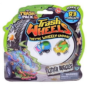 Trash Pack Wheels Litter Buggies Blister (2-Pack) by Trash Pack