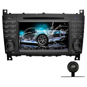 YINUO 7 Inch 2 Din Android 5.1.1 Capacitive Touchscreen Car Stereo DVD Player In Dash GPS Navigation Bluetooth radio for Benz C-Class W203 (2004-2007)/Benz CLK W209(2004-2005),Backup Camera Included