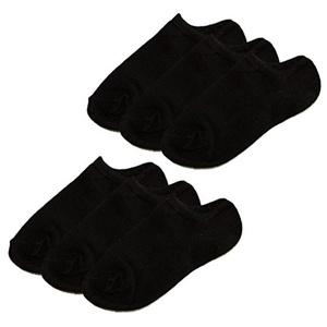 Rainbow Socks Boys Black Low Cut Socks 6 Pairs (Little Kid)