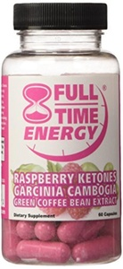 Full-Time Energy Super Pill with Raspberry Ketones Garcinia Cambogia Green Coffee Bean Extract Fat Burners - Extreme Diet Pills - The Best Weight Loss Supplements That Works Fast for Women and Men by Full-Time