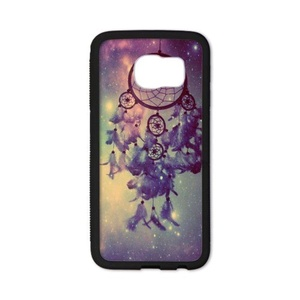 HuangHou ,Samsung Galaxy S6 Case,Custom Protect Slim Fit Hard Rubber Case Cover for Samsung Galaxy S6 Dream Catcher Design