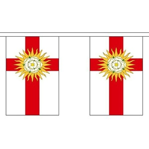 West Riding Of Yorkshire 9M Long - 30 Flags Bunting England English County by West Riding of Yorkshire