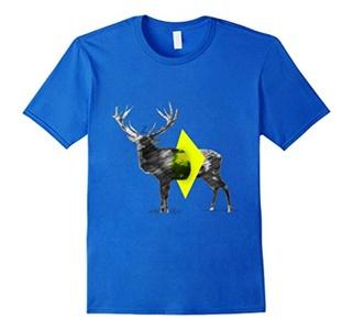 Men's Cut Out Deer t-shirt Medium Royal Blue