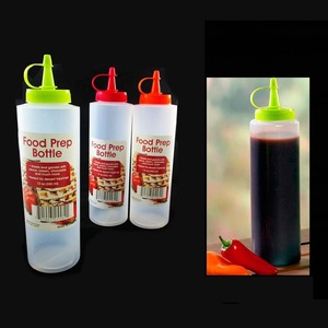 2 Pc 12oz Clear Plastic Squeeze Bottle Condiment Ketchup Mustard Oil Mayo Sauce