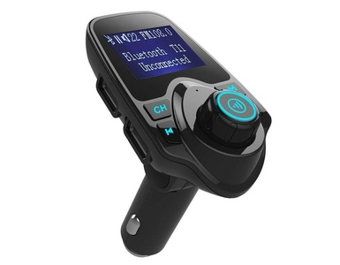 Actpe Wireless Blutooth Car MP3 Player FM Transmitter Modulator Radio Receiver Adapter with Hands free Calling & USB Charger for iPhone Android Smart Phone - Support Micro SD Card & USB Flash Drive