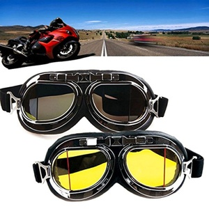 New Cyber Steampunk Goggles Vintage Retro Glass Collapsible Eyewear