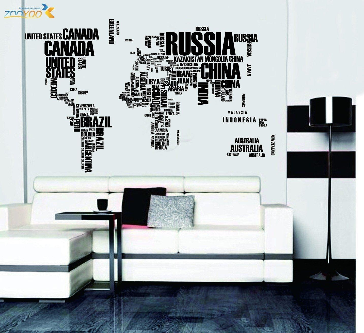 Online store dragon honor english alphabet world map removable dragon honor english alphabet world map removable vinyl wall sticker decal art decor mural gumiabroncs Image collections