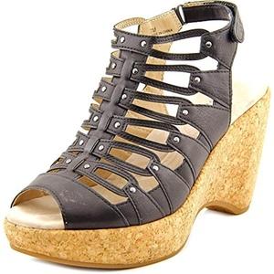 JBU by Jambu Lillian Women Open Toe Synthetic Black Wedge Heel