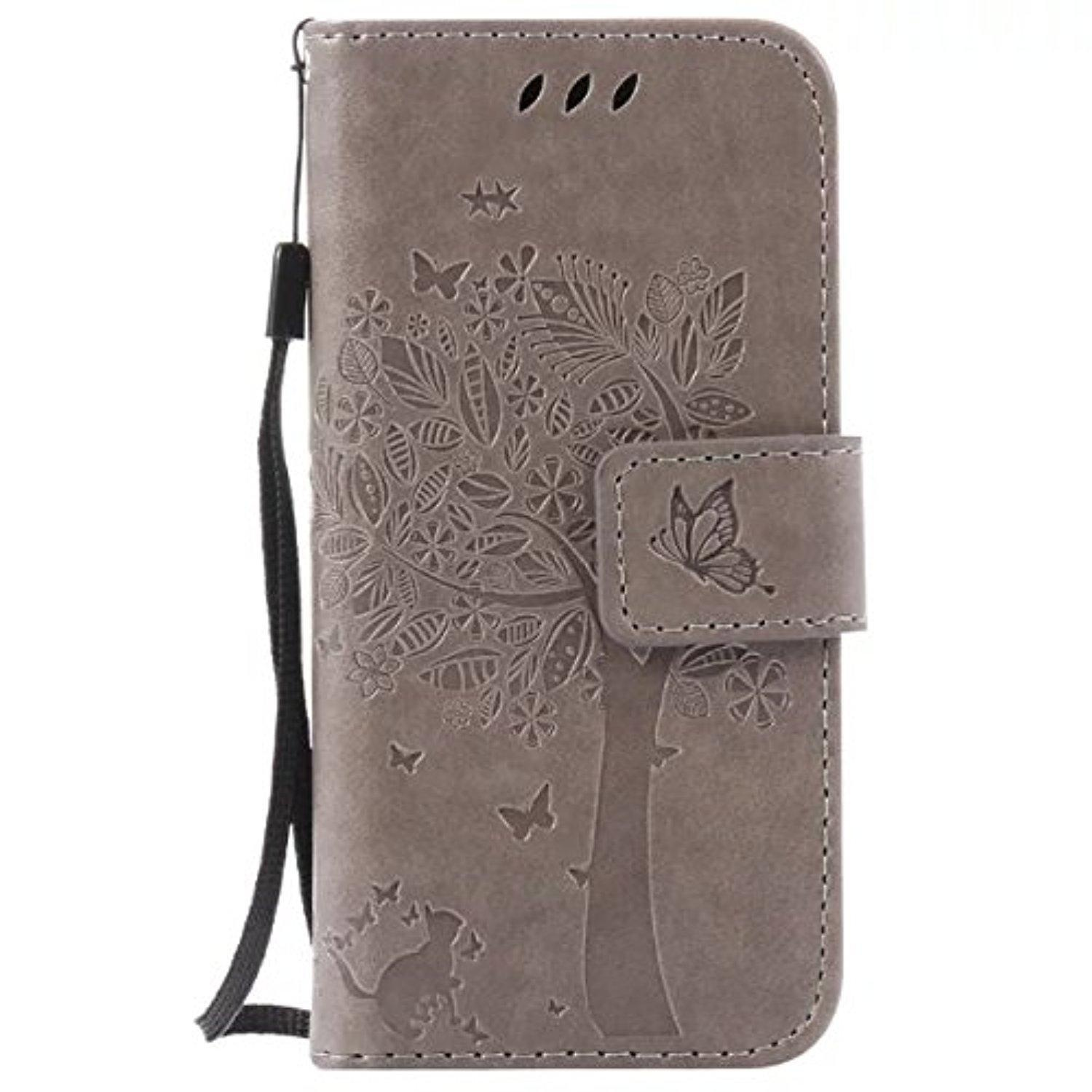timeless design e1d7c 6d8bb Ipod Touch 6th Generation Case, Ngift [Gray] [Cats And Tree] [Wallet  Function] Pu Leather Folio Leather Stand Shell Flip Case Cover For Apple  Touch ...