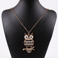 ARICO Owl Pendant Necklaces Gold Plated Vintage Necklace Steampunk Punk Necklace Jewelry NE755