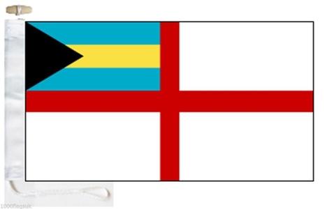 Bahamas Navy Ensign Courtesy Boat Flag - Roped & Toggle - 5'x3' - 150cm x 90cm