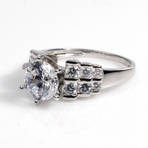 Sterling Silver Women's Clear CZ Engagement Ring Unique 925 New Band Size 10 (RNG12311-10)