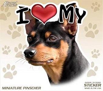 AGI I Love My Miniature Pinscher Dog 4