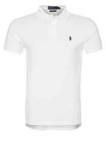 Polo Ralph Lauren Custom Fit Mesh Polo Shirt for Men White M