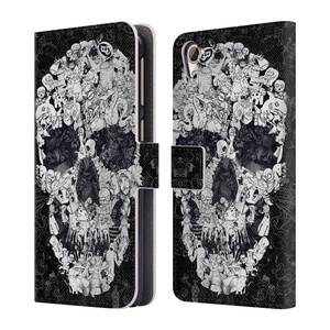 Official Ali Gulec Doodle Black The Message Leather Book Wallet Case Cover For HTC Desire 826 Dual Sim