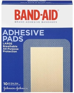 Band-aid Brand Adhesive Bandages, Large Adhesive Pads, 10-count Bandages (pack Of 2) by Band-Aid