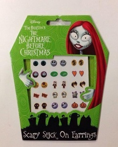 Nightmare Before Christmas Scary Stick On Earrings by The Nightmare Before Christmas