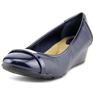 Giani Bernini Ambir W Open Toe Synthetic Wedge Heel