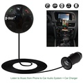 D-Best Wireless FM Transmitter, Bluetooth Car Kit with TF Slot, Hands-Free Talking & Music Streaming Dongle from Smartphone to Car stereo system + Magnetic Mount + Quick USB Charger (Black)