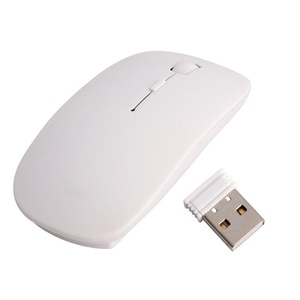 Feamos 2.4GHz Wireless Ultra Optical Mouse Mice with USB Receiver for PC Laptop 1600DPI (White)
