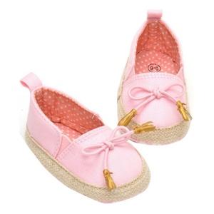 DZT1968 Newborn Baby Kids Solid Prewalker Toddler Bowknot Soft Sole Shoes