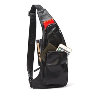 Bison Denim Men's Chest Pack Crossbody bag Rucksack hold Iphone, Ipad and Samsung