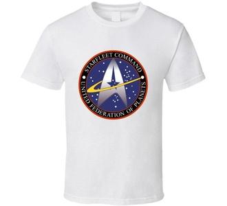 Star Trek Starfleet Command United Federation of Planets Logo T Shirt