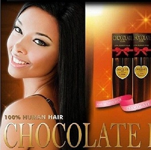 CHOCOLATE 16 - Ever Beauty 100% Human Hair Yaky Weave Extension #2 Dark Brown by Chocolate