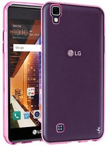 LG Tribute HD Case, LG X Style Case, LG Volt 3 Case, LK Ultra [Slim Thin] Scratch Resistant TPU Gel Rubber Soft Skin Silicone Protective Case Cover For LG Tribute HD / X Style / Volt 3 (Hot Pink)