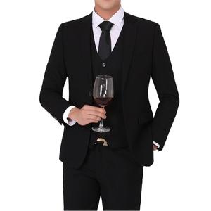 YFFUSHI Mens Stylish Two Button Peak Lapel 3-Piece Suit Casual Slim Fit Tuxedo